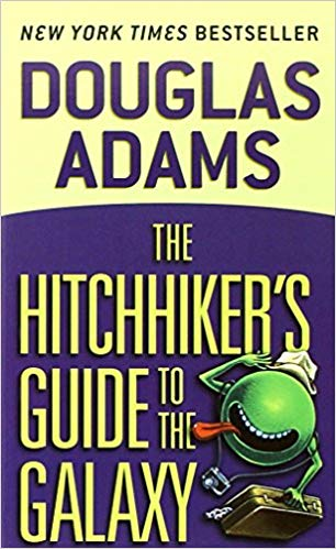 Book cover: The Hitchhiker's Guide to the Galaxy